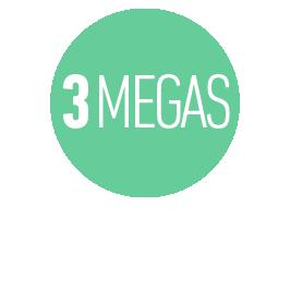 INTERNET HASTA 3 MEGAS