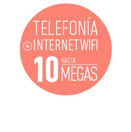 PROMO COMERCIAL Telefonía + Internet wifi hasta 10 megas