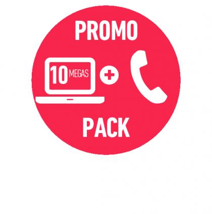PROMO FIBRA ÓPTICA HOGAR 10 MEGAS + TELEFONÍA