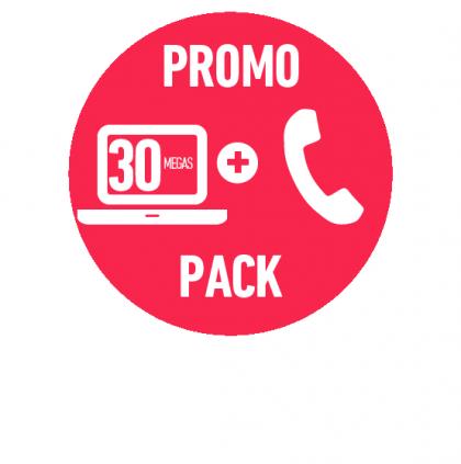 PROMO FIBRA ÓPTICA HOGAR 30 MEGAS + TELEFONÍA