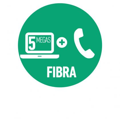 Línea Telefónica Hogar + Internet Fibra Óptica 5 Mbps