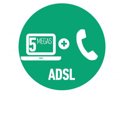 Línea Telefónica Hogar + Internet ADSL 5 Mbps